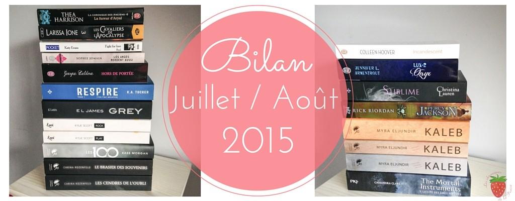 Bilan lecture de la fraise juillet aout 2015
