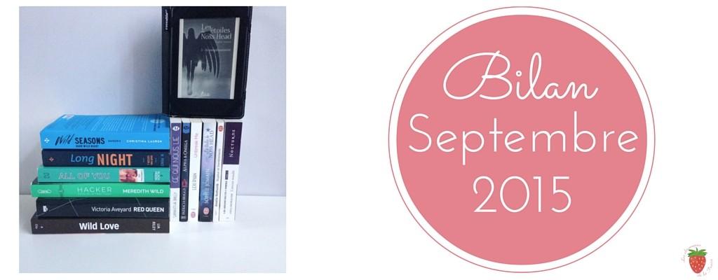 Bilan des lectures de la Fraise pour le mois de septembre 2015