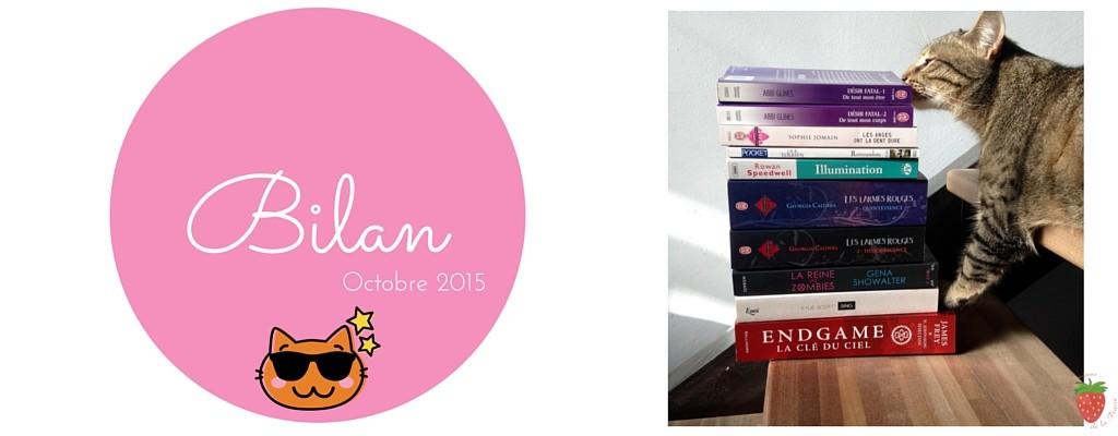 Bilan lecture de la Fraise du mois d'Octobre 2015