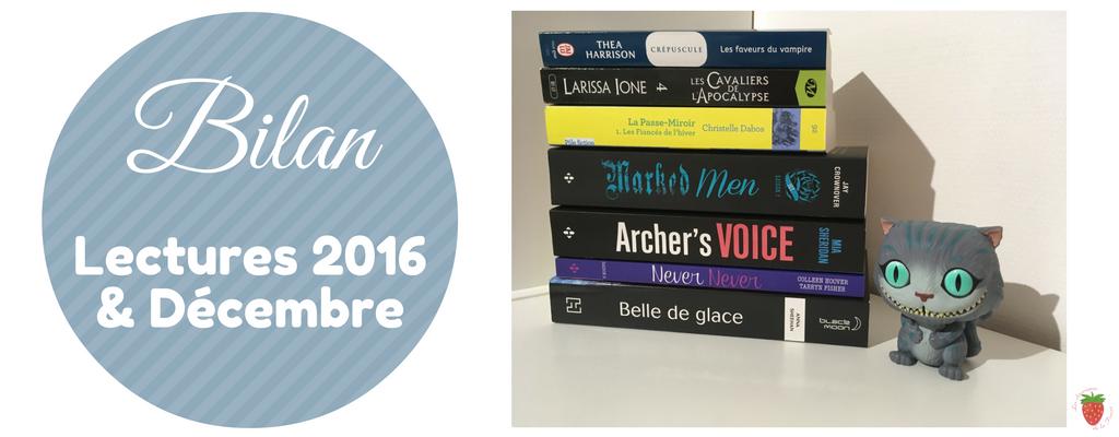 Bilan lecture de 2016 et de décembre